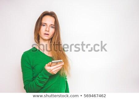 triest · tienermeisje · baan · tienermeisje · werk · uniform - stockfoto © lisafx