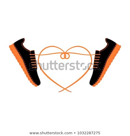 Negro zapatos siluetas blanco modelo bandera Foto stock © lkeskinen