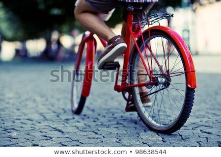 велосипедист · городского · дороги · город - Сток-фото © stevanovicigor