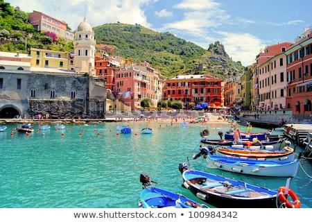 Kikötő Olaszország épület tájkép tenger óceán Stock fotó © fisfra