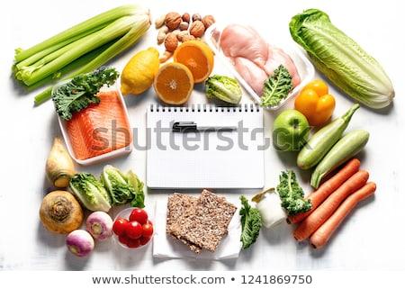 szövegbuborék · egészséges · élet · szavak · fehér · test · fitnessz - stock fotó © kbuntu