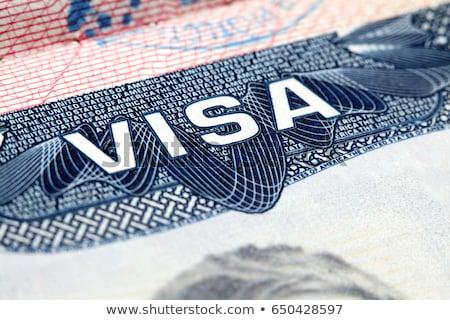 États-Unis visa bleu Voyage passeport Photo stock © Melpomene