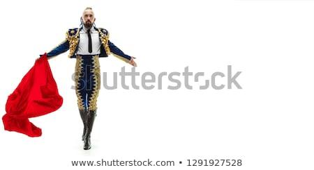 Portré férfi torreádor jelmez labda piros Stock fotó © photography33