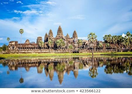 templo · angkor · Camboja · árvore · cara · natureza - foto stock © travelphotography