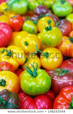 Erfgoed tomaten Rood oranje groene Stockfoto © bobkeenan