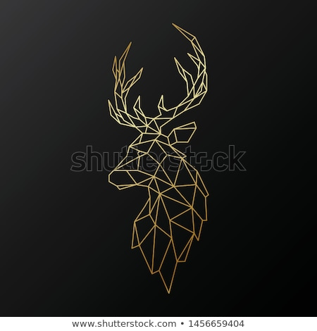 christmas deer stag heads vector stock photo © beaubelle