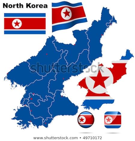 Stok fotoğraf: Demokratik · halklar · cumhuriyet · Asya · haritaları