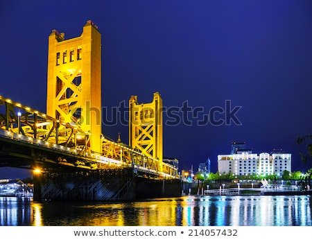 Stock photo: Golden Gates drawbridge in Sacramento