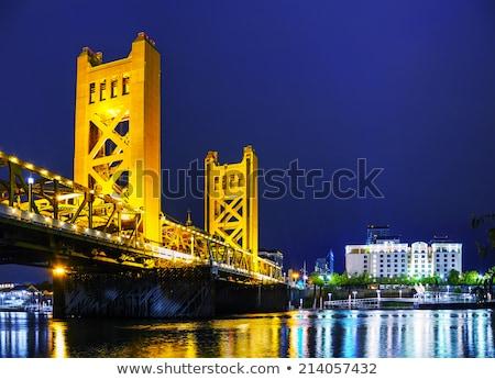Golden Gates drawbridge in Sacramento stock photo © AndreyKr