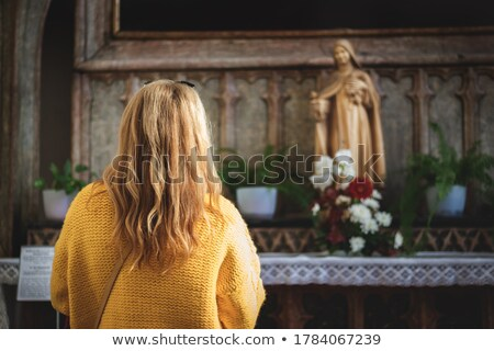Grace. Cult. Praying Religious Woman - Church Concept Stock photo © gromovataya