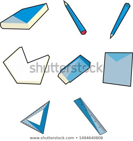 синий · папке · калькулятор · изолированный · белый - Сток-фото © tashatuvango