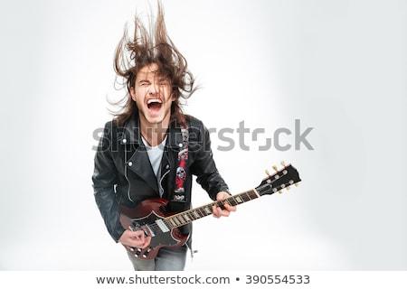 силуэта · человека · скалолазания · рок · горные · закат - Сток-фото © adrenalina