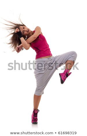 headbanging modern style dancer posing stock photo © feedough