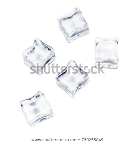 アイスキューブ 孤立した 白 抽象的な 氷 冬 ストックフォト © Givaga