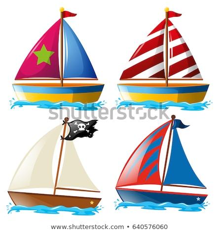 veleiro · brinquedo · vetor · imagem · desenho · animado - foto stock © perysty