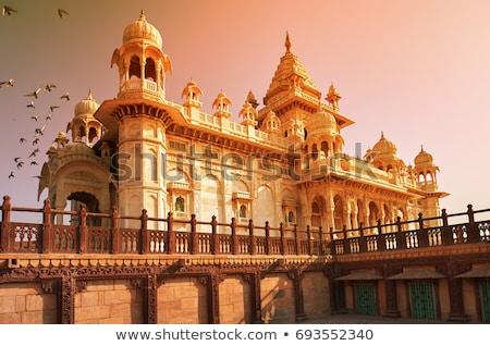 Stockfoto: Mausoleum · Indië · licht · tuin · kasteel · baksteen