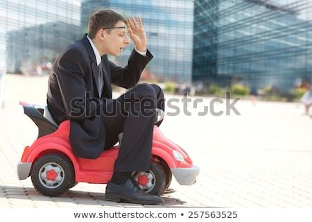 biznesmen · czerwony · zabawki · samochodu · banku · bezpieczne - zdjęcia stock © joseph73