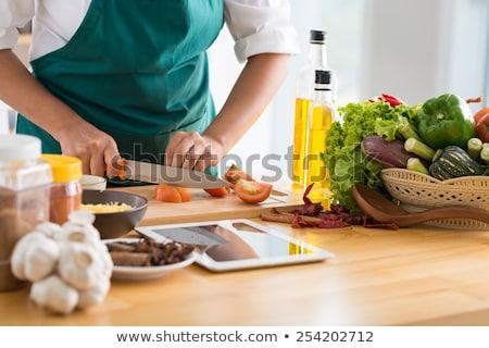Pişirme mutfak lezzetli gıda eller el Stok fotoğraf © fiphoto