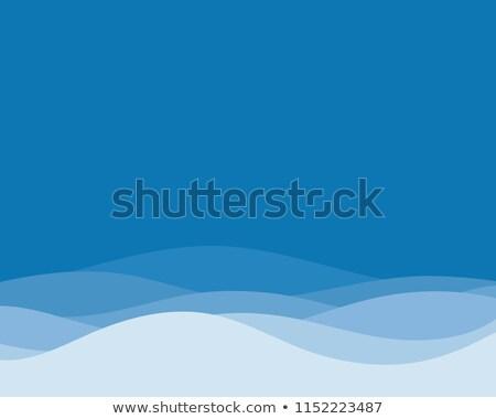 Soyut renkli dalga dizayn uzay mavi Stok fotoğraf © rioillustrator
