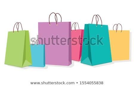 Stock fotó: Bevásárlótáskák · karácsony · illusztráció · színes · papír · boldog