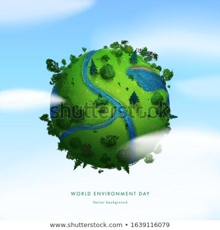 земле трава 3d визуализации высокий небе природы Сток-фото © Florisvis