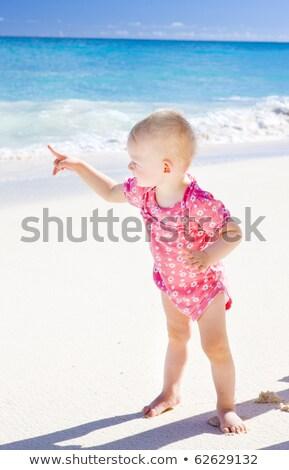 Stockfoto: Strand · Barbados · caribbean · kinderen · kind