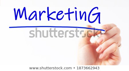Content Blue Marker Stock photo © ivelin