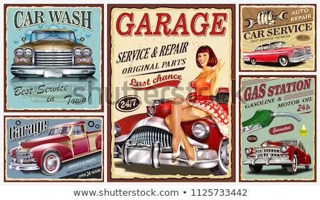 Foto stock: Velho · gasolina · motor · fora · gasolina