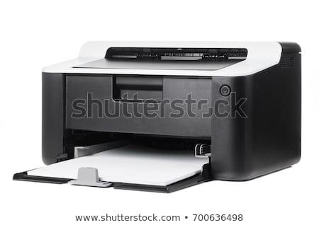 impresora · aislado · blanco · ordenador · oficina · tecnología - foto stock © shutswis