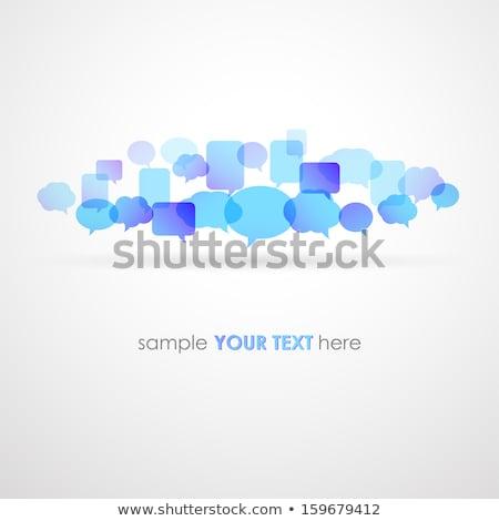 red · social · los · medios · de · comunicación · collage · hermosa · caucásico - foto stock © fotoscool