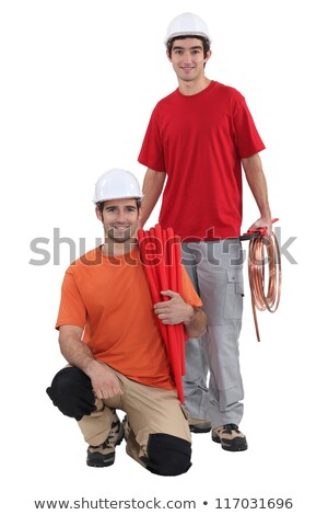 A team of tradespeople posing for the camera Stock photo © photography33