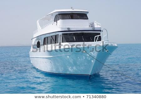 白 鉄 湖 ボート ドック 日没 ストックフォト © PBodig