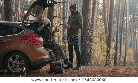 ハンサム · 若い男 · カップ · 茶 - ストックフォト © luminastock