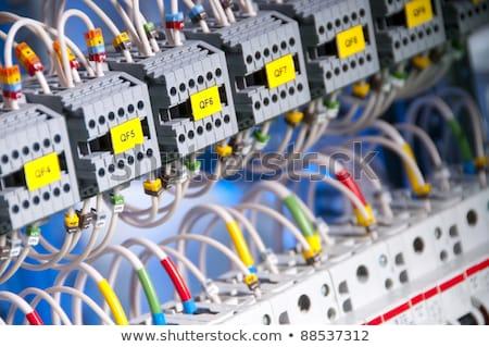 Industrial panel de control instalación botón industria Foto stock © lunamarina