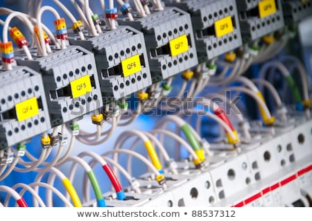industrial control panel installation button stock photo © lunamarina