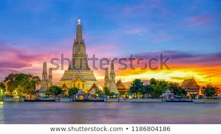 Thai landschap zee hemel dorp asia Stockfoto © PetrMalyshev