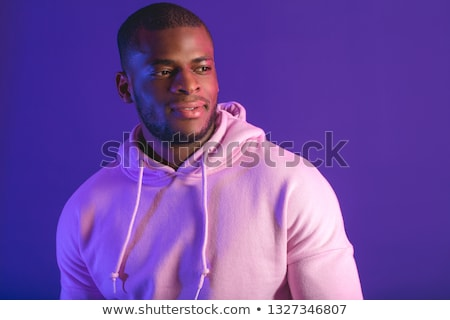 Stock photo: African american man with gray hood