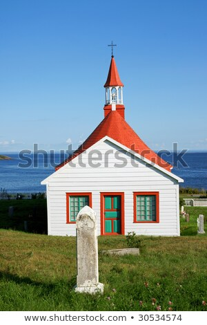 Indians Chapel the old church of Tadoussac Stock photo © aladin66