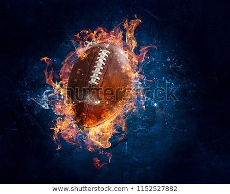 Explosie amerikaanse voetbal bal vliegen brand Stockfoto © radivoje