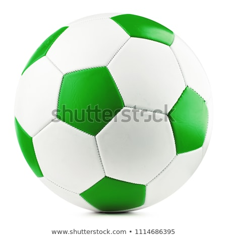 Soccer Ball on Green Background Stock photo © WaD