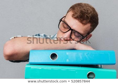 Homem retrato sonolento nu muscular Foto stock © bartekwardziak