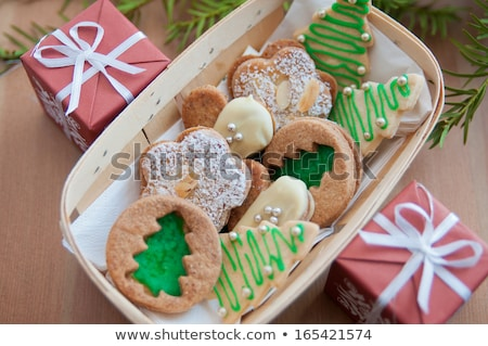 traditional spicy almond christmas cookies Stock photo © Rob_Stark