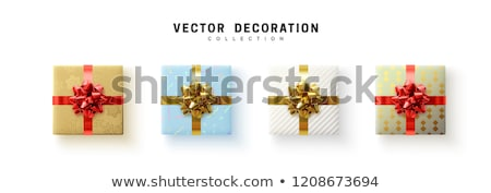christmas colorful gift boxes with bow isolated on white stock photo © tetkoren