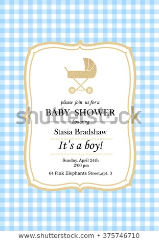 yeni · bebek · erkek · duyuru · kart - stok fotoğraf © balasoiu