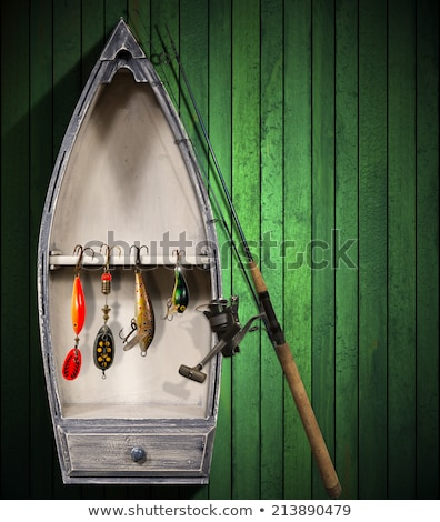 small boats with fishing tackle stock photo © kirill_m