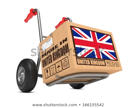 exportar · produto · Reino · Unido · papel · caixa - foto stock © tashatuvango