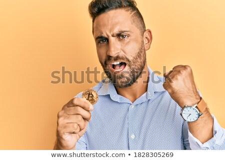 意気揚々 bitcoinの シンボル ユーロ ドル ポンド ストックフォト © Koufax73