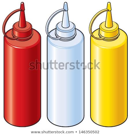 flessen · ketchup · mosterd · traditioneel · voedsel · glas - stockfoto © vectaray