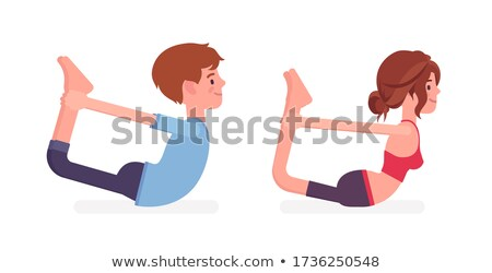 vector illustration of Yoga positions in Bow Pose stock photo © Istanbul2009