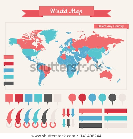population World map , vector Stock photo © beaubelle